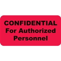 Confidential For Authorized Personnel, Red (A1004)