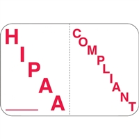 HIPAA Compliant, White/Red (A1010)