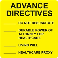 Advance Directives, Fluorescent Yellow (A1016)