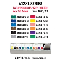 Tab 1281 Full Set Color Labels (1000/Roll)