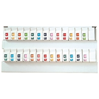 "Tab Match 1307 Top Tab Alpha Label, Letter A-Z, 1"" x 3/4"", Red, 500/RL, 26 Rolls"