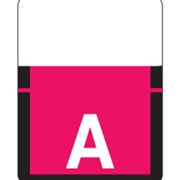 "Tab Match 1307 Top Tab Alpha Label, Letter A, 1"" x 3/4"", Red, 500/RL"
