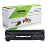 Black Compatible Toner, 1.5K Yield, CB435A
