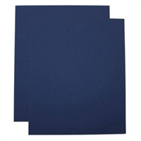SCORED DARK BLUE LINEN FRONT & BACK COVER