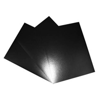 SCORED BLACK LEATHERETTE FRONT & BACK COVER