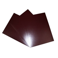 SCORED BORDEAUX LEATHERETTE FRONT & BACK COVER