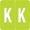 Barkley Alpha Labels Letter K Light Green ADPK-K