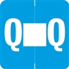 Barkley Alpha Labels Letter Q Light Blue ADPK-Q