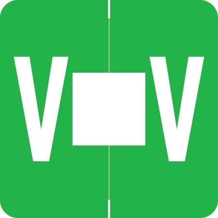 Barkley Alpha Labels Letter V Green ADPK-V