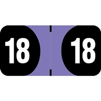 Arden Year Labels, 2018, Lilac, 3/4 x 1-1/2, 500/Roll