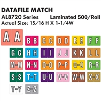 Datafile AL8720 Label Set A-Z (500/Roll)