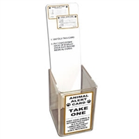 Animal Alert Card Display with Label and Placard Only
