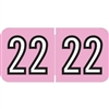 Amerifile Compatible Year Labels, 2022, Pink, 3/4 x 1-1/2, 500/RL