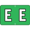 Barkley Alpha Labels Letter E Light Green BRAM-E