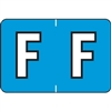 Barkley Alpha Labels Letter F Blue BRAM-F