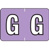Barkley Alpha Labels Letter G Lavender BRAM-G