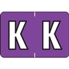 Barkley Alpha Labels Letter K Purple BRAM-K
