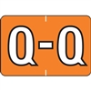 Barkley Alpha Labels Letter Q Orange BRAM-Q