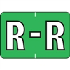 Barkley Alpha Labels Letter R Light Green BRAM-R
