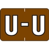 Barkley Alpha Labels Letter U Brown BRAM-U