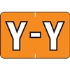 Barkley Alpha Labels Letter Y Orange BRAM-Y