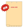 Chart Dividers, Legal Size, 6 Blank Bottom Tabs, 1/6th-Cut, 25 Sets/Bx (CBTL21)