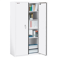 FireKing Storage Cabinet, 4 Shelves, 72-Inch Height