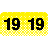 Control-O-Fax Compatible Year Labels, 2019, Yellow, 3/4 x 1-1/2, 500/RL