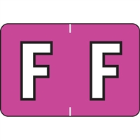 Colwell Labels Jewel Tone Label Letter F