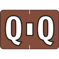 Colwell Labels Jewel Tone Label Letter Q