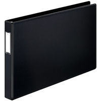 11 x 17 black ring binder with 1 inch capacity