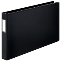11 x 17 black ring binder with 1.5 inch capacity