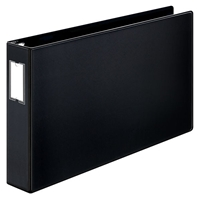 11 x 17 black ring binder with 2 inch capacity