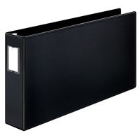 11 x 17 black ring binder with 3 inch capacity