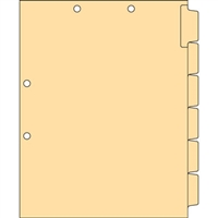 Blank Chart Dividers Letter Side Tab (CST21)