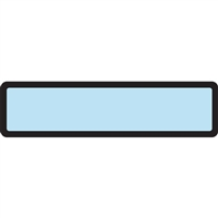 Arden Spine ID Labels - Light Blue, Blank
