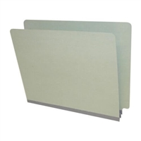Gray/Green Letter Size End Tab Pressboard Folder (DV-S42-02-2GRY)