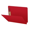 Deep Red Letter Size End Tab Pressboard Folder (DV-S42-02-3DRED)