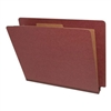 Red Letter Size End Tab Pressboard Classification Folder (DV-S42-14-2RED)
