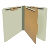 Green Letter Size End Tab Pressboard Classification Folder (DV-S42-14-3GRN)