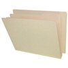 "Classification Folders, End Tab, Letter Size, 2"" Exp, 6 Fasteners, 2 Dividers, 18pt Manila, 10/Box"