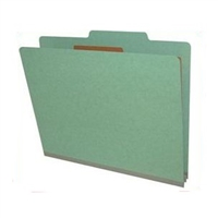Green Pressboard Classification Folders (DV-T42-14-2GRN)
