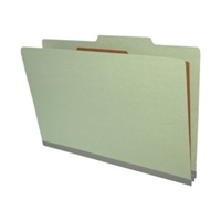 "Pressboard Classification Folders, 2/5-Cut, Legal Size, 2"" Exp, 1 Divider, Type II Gray, 10/Box"