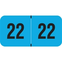 PMA Compatible Year Labels, 2022, Fluorescent Blue, 3/4 x 1-1/2, 500/RL