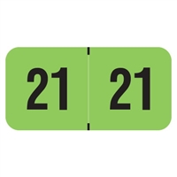 PMA Compatible Year Labels, 2021, Fluorescent Green, 3/4 x 1-1/2, 500/RL