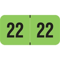 PMA Compatible Year Labels, 2022, Fluorescent Green, 3/4 x 1-1/2, 500/RL