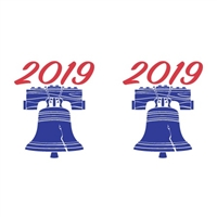 Patriot Year Labels, 2019, Red/Blue, 3/4 x 1-1/2, 500/RL