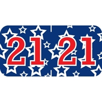 Patriot Year Labels, 2021, Red/Blue, 3/4 x 1-1/2, 500/RL