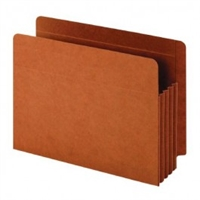 "Globe-Weis GLW63780 File Pockets, Pure Tyvek Gusset, Full Side Tab, Letter Size, 3-1/2"" Exp, 10/Bx"