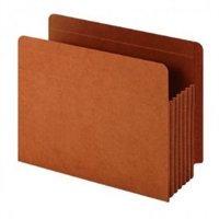 "Globe-Weis GLW63790 File Pockets, Pure Tyvek Gusset, Full Side Tab, Letter Size, 5-1/4""Exp, 10/Bx"